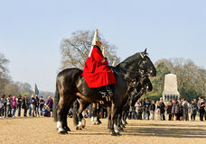 Queen's Horse Guard on duty. Royalty Free Stock Photos