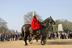Queen's Horse Guard on duty. Stock Photo