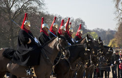 Queen's horse guards Stock Photo