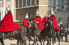Queen's horse guards Royalty Free Stock Photo