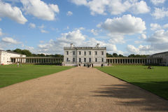 Queen's house with blue sky Royalty Free Stock Photos