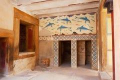 Queen's Megaron. Palace of Knossos, Crete, Greece stock image