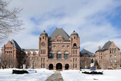 Queen's Park Building. (Toronto) in Winter royalty free stock images