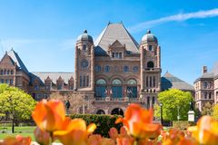 Queen's Park Building in daytime Royalty Free Stock Images