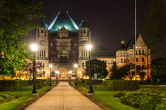 Queen's Park Building at Night Royalty Free Stock Photo