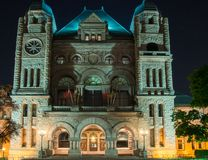 Queen's Park Building at Night Royalty Free Stock Photos