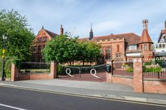 The Queen`s School in Chester stock photos