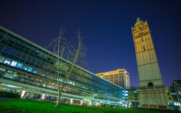 Queen`s Tower  London at night. Queen`s Lawn Imperial College  London England Stock Image