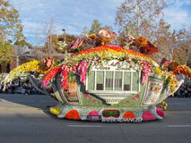 Queen's Trophy at The 2010 Rose Bowl Parade Stock Photography