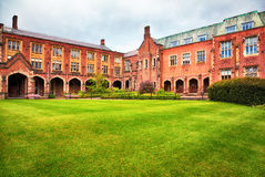 Queen's University of Belfast. View at the Queen's University of Belfast in rainy moody day Royalty Free Stock Photography
