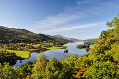 Queen's View at Loch Tummel - Scotland, UK Royalty Free Stock Photo