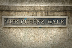 The queen`s walk Royalty Free Stock Photography