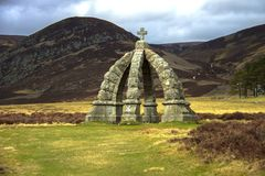 Queen`s Well. Route from Invermark to Mount Keen. Aberdeenshire, Scotland. Route from Invermark to Mount Keen and Queen`s Well. Glen Mark, Aberdeenshire stock photography