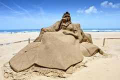 Queen sand sculpture Royalty Free Stock Images