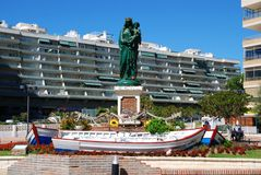 Queen of the Seas statuette, Fuengirola. Royalty Free Stock Image