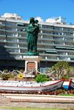 Queen of the Seas statuette, Fuengirola. Royalty Free Stock Photo