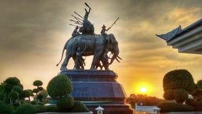 Monument Elephants Brave Warriors Stock Image