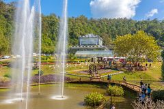 Queen Sirikit Botanic Garden Near Chiang Mai, Thailand Royalty Free Stock  Photos