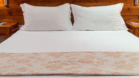Queen sized bed Royalty Free Stock Photo