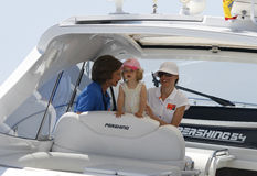 Queen Sofia, Princess Letizia and daughter Leonor Stock Photography