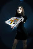 Queen of spades Stock Photo