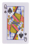 Queen of spades isolated on white Royalty Free Stock Images