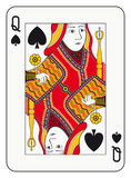 Queen of spades. Playing card Stock Image