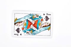 Queen of spades playing card. Royalty Free Stock Images
