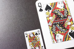 The Queen of Spades royalty free stock photos