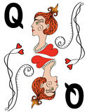 The Queen of spades. Vector illustration Royalty Free Stock Image