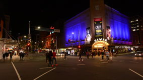 Queen Street in Auckland Downtown at night New Zealand stock video