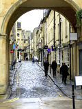 Queen Street, Bath, Somerset. The quaint old street of Queen Street, Bath, Somerset, England, UK Royalty Free Stock Image