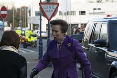 HRH Princess Anne Opens Coleraine Library stock image