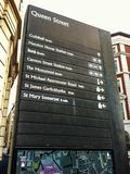 Queen Street road signage in London, UK stock images