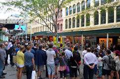 Queen Street Mall -Brisbane Queensland Australia Royalty Free Stock Photos