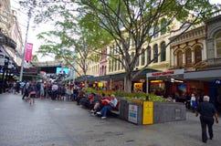 Queen Street Mall -Brisbane Queensland Australia Stock Photos