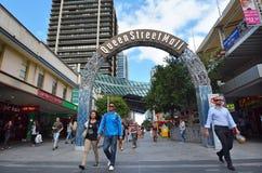 Queen Street Mall -Brisbane Queensland Australia Royalty Free Stock Photo