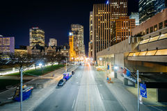 Queen Street West at night, in downtown Toronto, Ontario. Royalty Free Stock Image