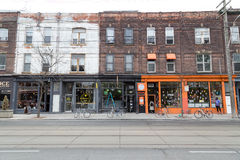 Queen Street West Toronto stock photography