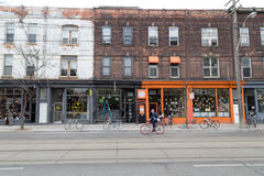 Queen Street West Toronto royalty free stock photos