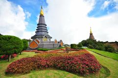 Queen stupa at the peak of Doi Inthanon Stock Images