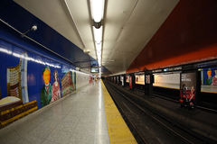 Queen Subway station Royalty Free Stock Photos