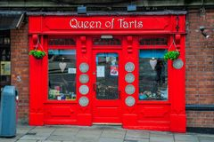 Queen of Tarts. The Queen of Tarts is a cafe, bakery, and tearoom located in the famous Temple Bar district of Dublin, Ireland Royalty Free Stock Image