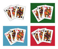Queen tris. Four different arrangements and backgrounds Royalty Free Stock Photos