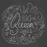 Queen Typography Design. Lettering print for poster Royalty Free Stock Photos