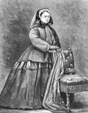 Queen Victoria. (1819-1901) on engraving from the 1800s. Queen of Great Britain during 1837-1901. Engraved by Butterworth & Heath from a photograph by W&D Royalty Free Stock Image
