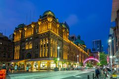 Queen Victoria Building, a heritage site in sydney. A heritage-listed late-nineteenth-century building designed by the architect George McRae located at 429-481 royalty free stock photos