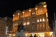 Queen Victoria Building at night Sydney  New South Wales Austral Stock Photography