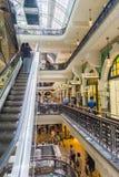 Queen Victoria Building refurbished interior. SYDNEY, AUSTRALIA - NOVEMBER 24, 2017; Inside destination retail center trendy and classy Queen Victoria Building Stock Image