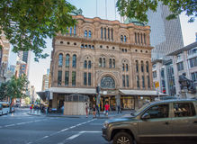Queen Victoria Building. SYDNEY,NSW,AUSTRALIA-NOVEMBER 18,2016: Queen Victoria Building with Romanesque architecture in the CBD with people in Sydney, Australia Royalty Free Stock Images